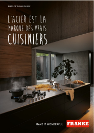 Brochure de plans de travail inox Franke