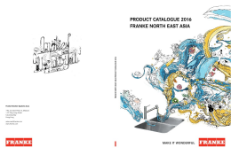 Franke NEA Product Catalogue 2016