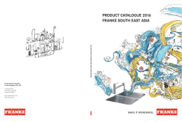 Franke SEA Product Catalogue 2016