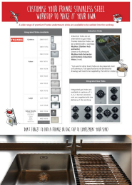 Franke Stainless Steel Worktops Customisation Information Sheet