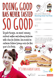 A3 Tea Party Poster (editable PDF)