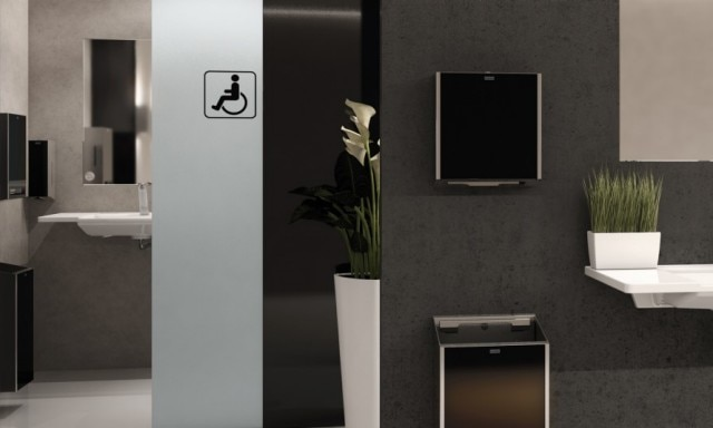 Office washroom with accessible toilet