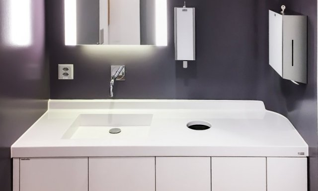Composite washbasins for healthcare and beauty clinics