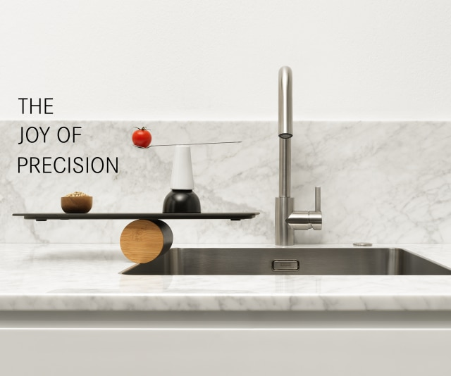 minimalistic, kitchen design sink, single bowl and double bowl sink in stainless steel