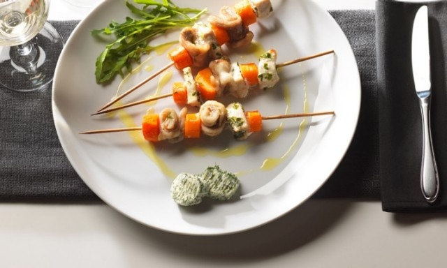 Swordfish Skewers With Dill
