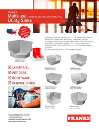 Janitorial, Pet Care and Boot Wash Sinks Flyer