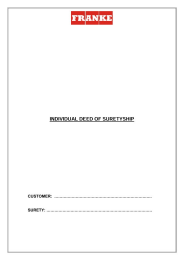 Download Individual Deed of Suretyship